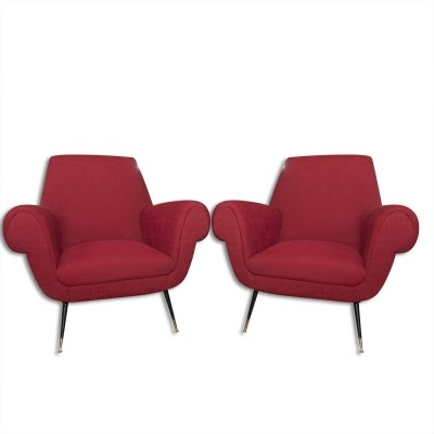 Pair of Gigi Radice arm chairs, 1960s