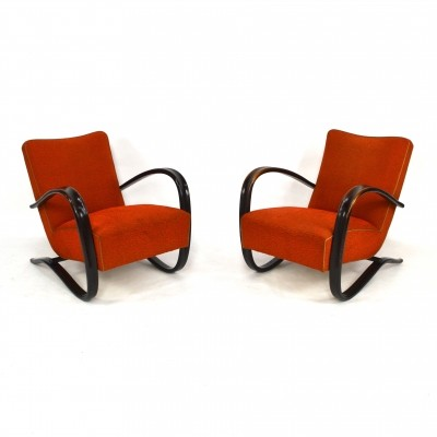 Pair of Halabala lounge chairs, 1957