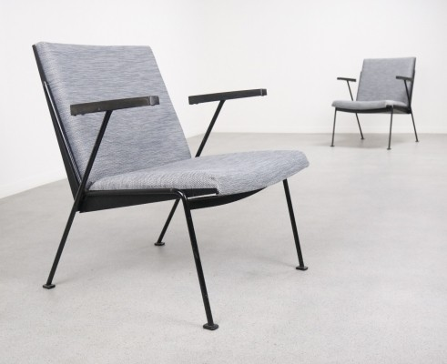 2 x Oase lounge chair by Wim Rietveld for Ahrend de Cirkel, 1950s