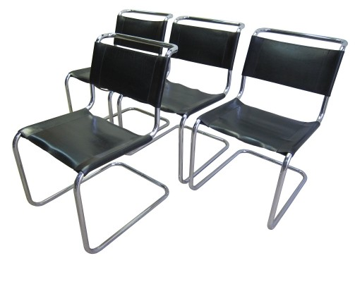 Vintage Thonet S33 dining chairs by Mart Stam, 1960s