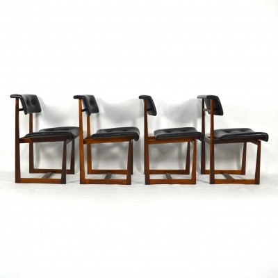 Set of 4 Rosewood dining chairs, 1950s