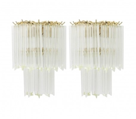 Pair of Venini Wall Sconces, 1960s