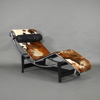 Le Corbusier 'LC4' Tri-Colore Chaise Longue, 1960s