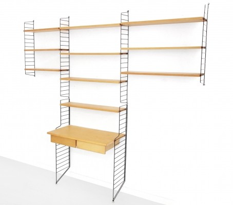 String Shelving wall unit by Nisse Strinning & Kajsa Strinning for String Design AB, 1950s