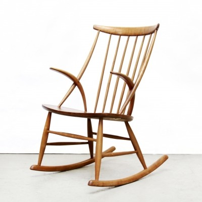 Gyngestol rocking chair by Illum Wikkelsø for N. Eilersen, 1950s