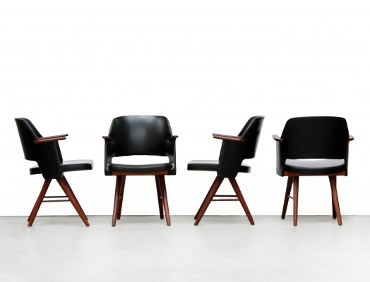 Set of 4 FT30 dinner chairs by Cees Braakman for Pastoe, 1950s