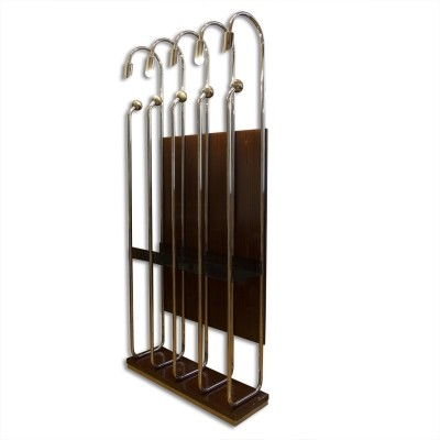 Italian chrome-plated clothes hanger, 1970's