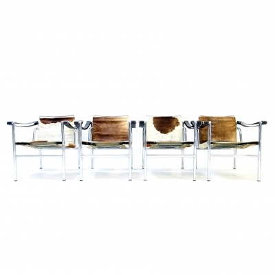 Set of 4 LC1 arm chairs by Le Corbusier for Cassina, 1960s