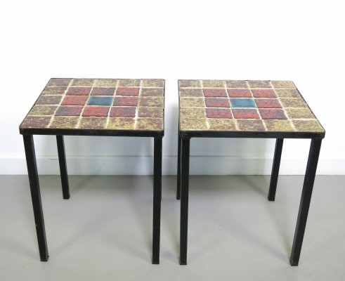 Pair of Mado Jolain side tables, 1950s