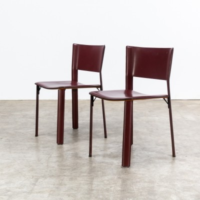 Pair of S91 dining chairs by Giancarlo Vegni for Fasem, 1990s