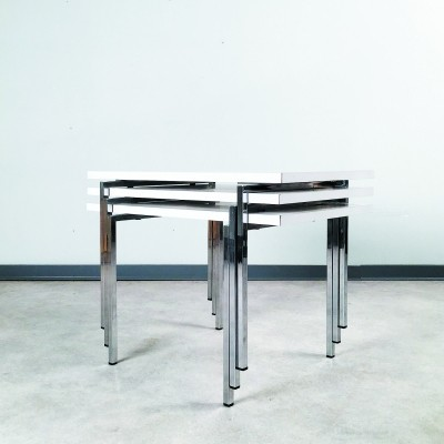 Nesting table by Robert Haussmann for Swiss Form, 1960s