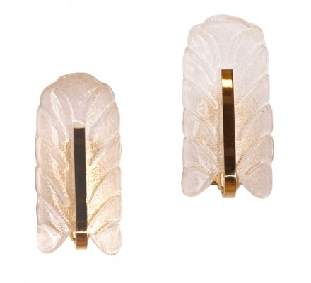Pair of Murano Glass Wall Sconces by Carl Fagerlund