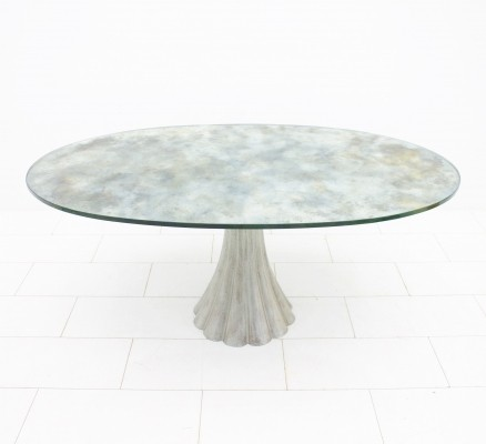 Dining Table with mirrored glass top, 1960s