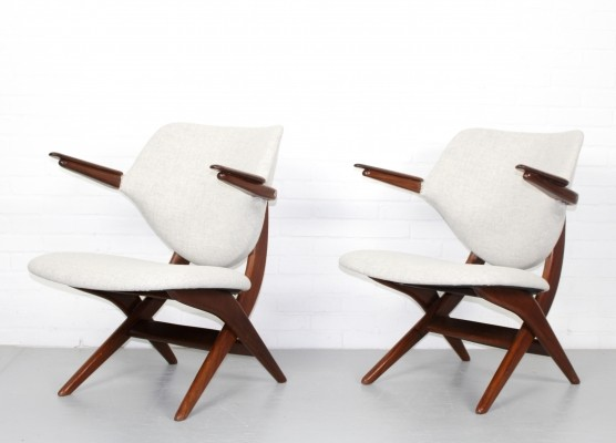 Pair of Pelican lounge chairs by Louis van Teeffelen for Wébé, 1960s