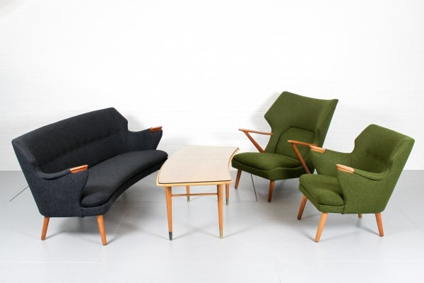 Papa Bear seating group by Kurt Olsen for Slagelse Møbelværk, 1950s