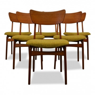 Set of 6 Vintage Danish design teak dining chairs