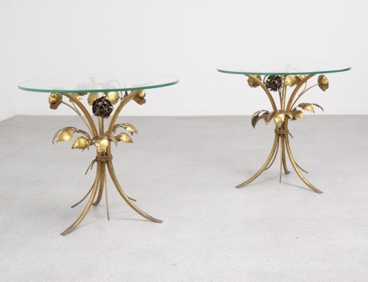 Pair of Flower side tables by Hans Kögl, 1960s