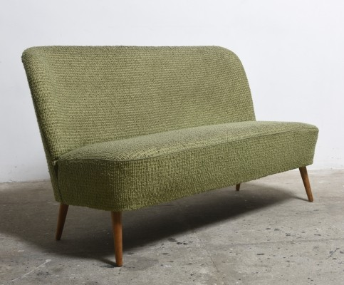 Rare 1950s Artifort loveseat / cocktail bench