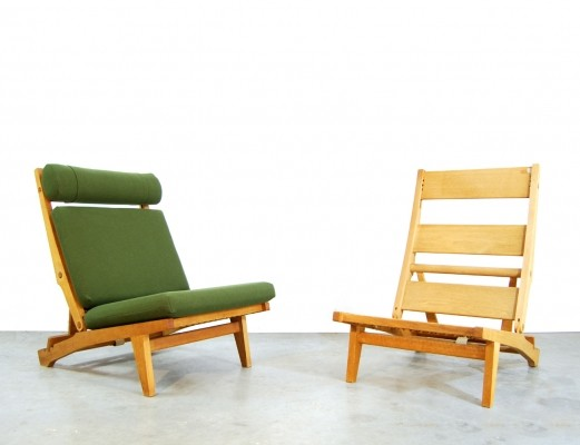 6 x AP71 lounge chair by Hans Wegner for AP Stolen, 1960s
