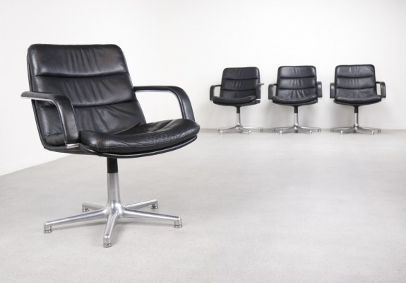 4 x F978 Channel office chair by Geoffrey Harcourt for Artifort, 1960s