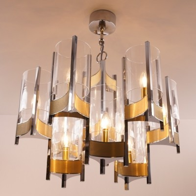 Two-tier chandelier designed by Gaetano Sciolari Italy