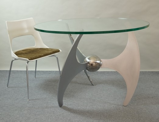 Propeller coffee / dining table by L. Campanini for Cama, 1973