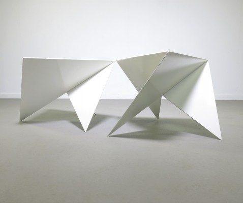 Pair of Ronald Willemsen side tables, 1980s