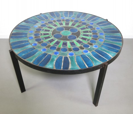 Coffee table by Luc de Meester for Amphora, 1960s