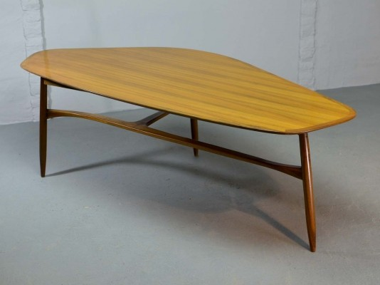 Free Form Shaped Lacquered Kidney Coffee Table designed by Svante Skogh
