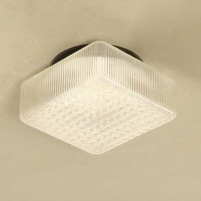 Square Eastern Bloc clear glass Ceiling Lamp