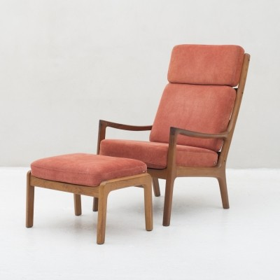 Senator Series 'model 166' Easy chair & ottoman by Ole Wanscher, Denmark 1950