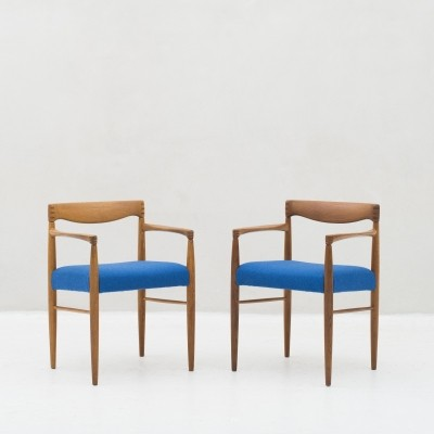 2 Armchairs in oak by Henry W. Klein for Bramin, Denmark 1960s
