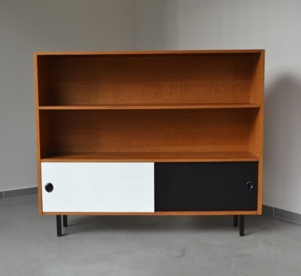 Two tone open storage cabinet, 1970s
