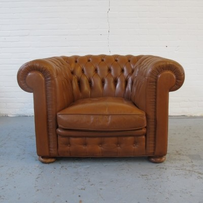 Chesterfield lounge chair, 1970s
