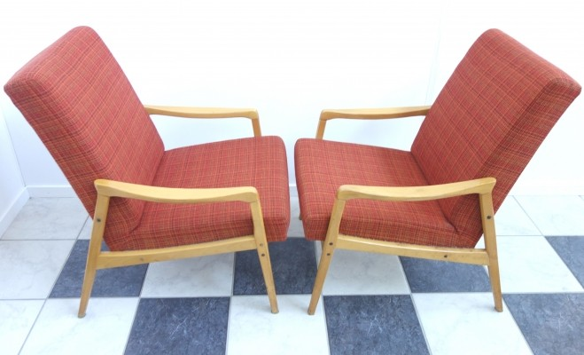 Pair of Jitona Soběslav arm chairs, 1970s