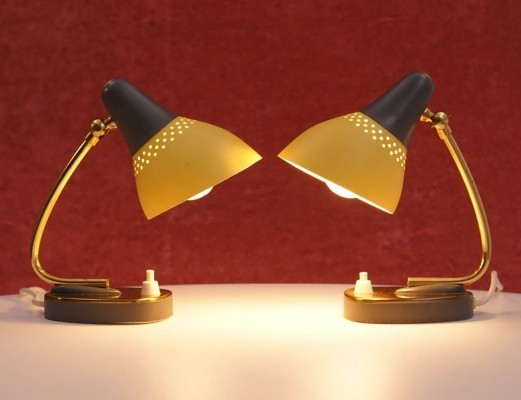 Set of Two Mid-Century Italian Table Lamps