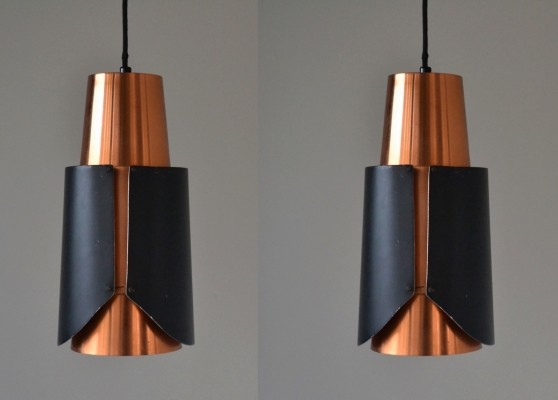 2 x Østerport hanging lamp by Bent Karlby for Lyfa, 1960s