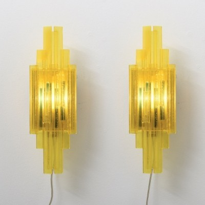 2 x Model 1006 wall lamp by Claus Bolby for CEBO Industri, 1950s