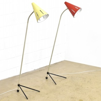 2 x Zonneserie floor lamp by H. Busquet for Hala Zeist, 1950s