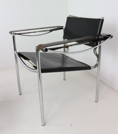 Set of Two Leather Armchairs by Giandomenico Belotti for Alias 1980s