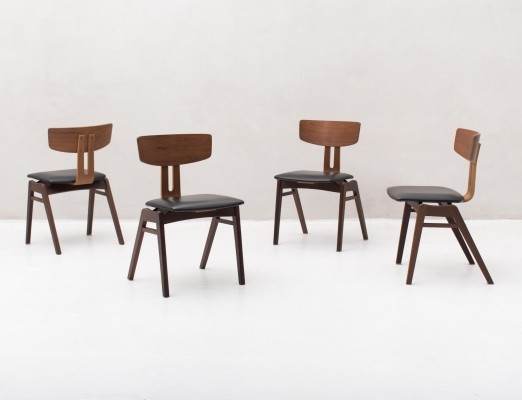 4 'Combex series' dining chairs by Cees Braakman for Pastoe, 1950s