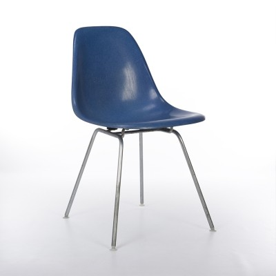 Original Herman Miller Blue Eames DSX Dining Side Chair