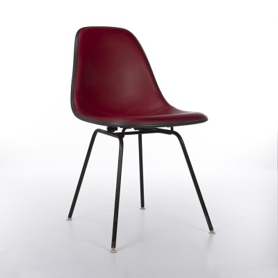 Original Herman Miller Red Vinyl Eames DSX Dining Side Shell Chair