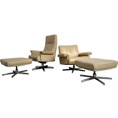 Pair of DS 31 lounge chairs by De Sede Design Team for De Sede, 1970s