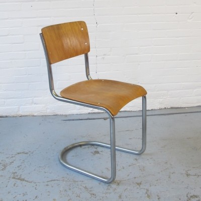Dining chair by W. Gispen for Gispen, 1950s