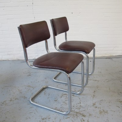 2 x dinner chair by W. Gispen for Gispen, 1960s