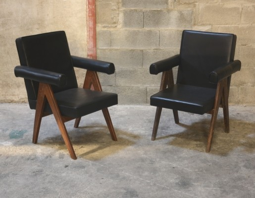 Set of 2 Senate Committee Chairs by Pierre Jeanneret