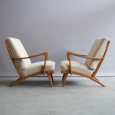 Pair of Knoll Antimott lounge chairs, 1950s