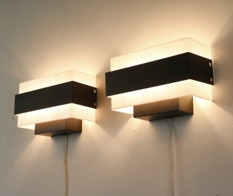 4 x Philips wall lamp, 1960s