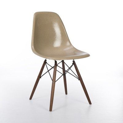 Original Herman Miller Greige Eames DSW Dining Side Chair